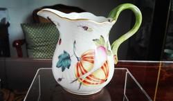 Ó Herendi Fruit Chantilly mintás porcelán tejszín / citromlé kiöntő