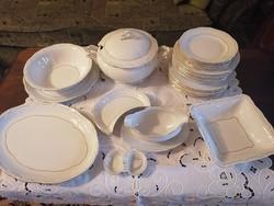 Zsolnay barokk tollazott étkészlet 28 részes