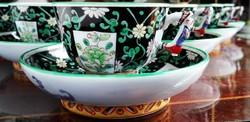 Herend Luxury mocha cups - SiangNoir mintás Herendi mokkás csészék
