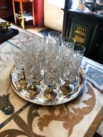 Ezüst talpú pohár szett -12 darab