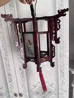 Nagyon szép Kina faragott fa sárkányos mécses tartó lampion