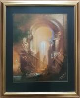Buday Mihály - Hazatérés- 51x63 cm