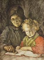 Edvi Illés Aladárné, Karády Etel (1877 – 1963) : Nagyanyóval