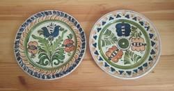 2 db fali tányér (népi, Korond) egyben eladó