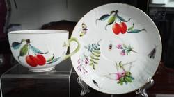 """Ó Herendi Fruit Chantilly mintás porcelán teáscsésze """"meggy-jégcsapretek 2 """""""