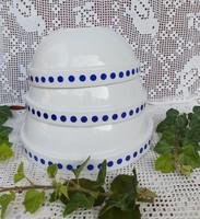 Gyönyörű Alföldi ritka Gyűjtői kék pöttyös pöttyös pogácsás tálak tál paraszttál nosztalgia darabok