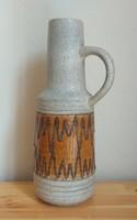 Jelzett, retro, füles, kerámia váza (német, NDK) eladó