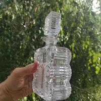 Csiszolt kristály whiskey dugós palack, gyönyörű csiszolt