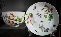 """Ó Herendi Fruit Chantilly mintás porcelán teáscsésze """"szamóca"""""""