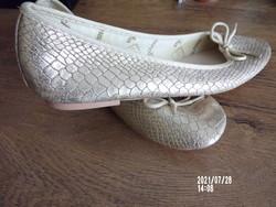 Marcha ballerina cipő aranyban (esküvőre is)