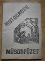 Műsorfüzet: MOTOCROSS - PANNONVIN KUPA 1985.