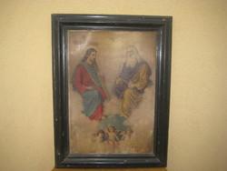 Régi szent kép  34 x 51 cm  + ráma