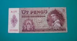 5 Pengő  bankjegy - 1939