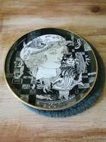 Hollóházi Szász Endre porcelán tányér,20 cm,Adria