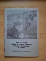 Műsorfüzet: MOTO-CROSS 125 és 50 kcm-es kategória Országos Bajnoksága II. forduló 1983.