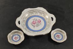 Német porcelán süteményes kínáló tányérokkal 994