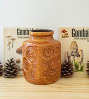 Scheurich jura váza - csiga fosszília mintás német retro kerámia váza