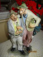 Ivó cimborák biszkvit porcelán figurális szobor