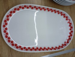 Alföldi porcelán piros Gabriella ovális kínáló 38cm