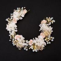Ékszerek-hajdíszek, hajcsatok: Esküvői, menyasszonyi, alkalmi hajdísz ES-H-TI14a