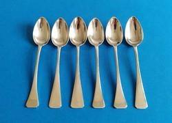 Ezüst 6 darab mokkás kanál angol fazon