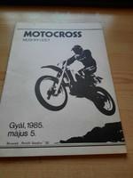 Műsorfüzet: MOTOCROSS Gyál, 1985.