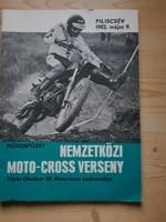 Műsorfüzet:NEMZETKÖZI MOTO-CROSS VERSENY PILISCSÉV 1982.