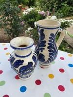 Kézzel festett kerámia kancsó, váza eladó!