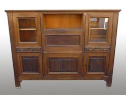0276 Antik kabinet szekrény iratszekrény