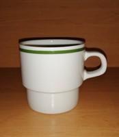 Alföldi porcelán zöld csíkos bögre