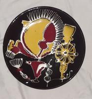 Iparművész fali tányér