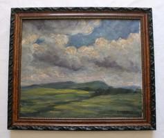 Balla Béla - Felhős táj című festménye
