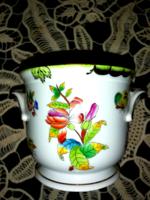 Herendi Viktória mintás pillangós gyönyörű kaspó