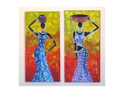 B.Tóth iris-africa painting 2pcs
