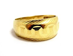 Kő nélküli arany gyűrű (ZAL-Au97395))
