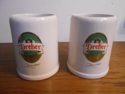 Dreher söröskorsó porcelán 2 db új!