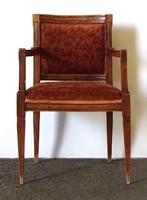 1F430 Antik rézberakásos karfás empire szék