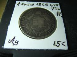 1 forint 1869 GYF