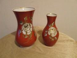 Schaubach Kunst  és Wallendorf piros vázák