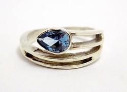 Kék köves ezüst gyűrű (ZAL-Ag96686)