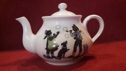 Antik mini árnyképes porcelán kanna