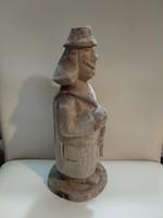 Magyar népművészeti népi fafaragás, pásztor, fa szobor hungarian wooden sculpture