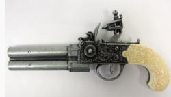 Angol duplacsövű pisztoly 22cm