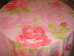 Csodaszép vintage rózsaszín rózsás kétoldalas puha termo paplanhuzat
