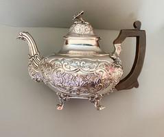 Antik ezüst portugál teáskanna, csodás darab! c.1800.