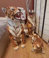 Eredeti olasz  tigrisek és leopárd hatalmas,impozáns szobrok eladó!