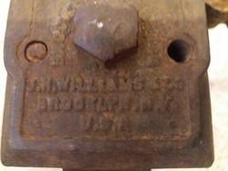 Egy igazi amerikai történelem!  Ritka antik Brock láncos csavarkulcs,ipari stílus, dekorációs tárgy