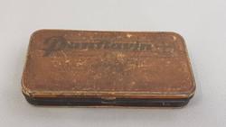 Antik Bayer gyógyszeres tégely, gyógyszeres fémdoboz, patikai pasztillás doboz