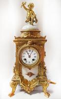 Restaurált antik  puttós asztali-, bútor-, vagy kandalló óra