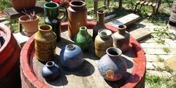 Vintage mid century kerámia váza gyüjtemènx